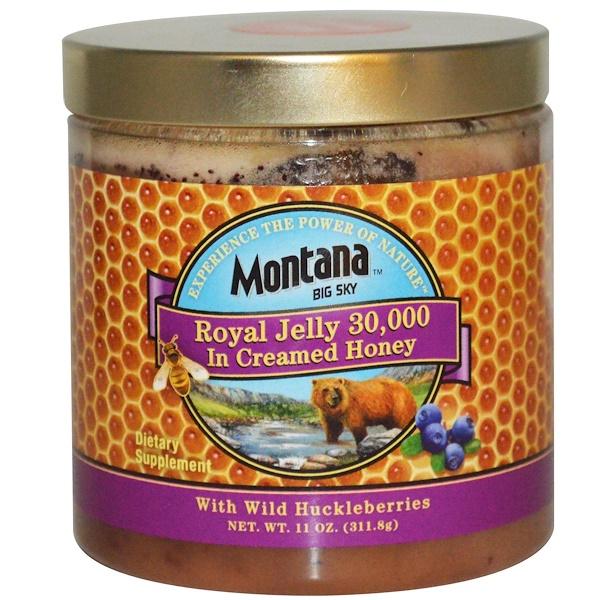 Montana Big Sky, Royal Jelly 30,000 in Creamed Honey, 11 oz (311.8 g) (Discontinued Item)