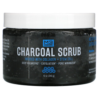 M3 Naturals, Charcoal Scrub, 12 oz (340 g)