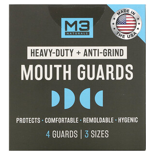 M3 Naturals, Mouth Guards, 3 Sizes, 4 Guards