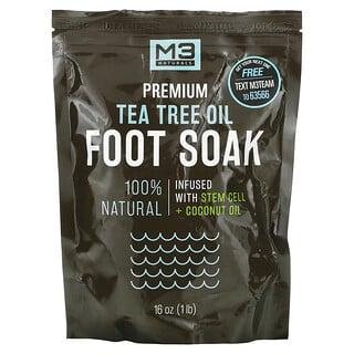 M3 Naturals, Premium Tea Tree Oil Foot Soak, 16 oz (1 lb)