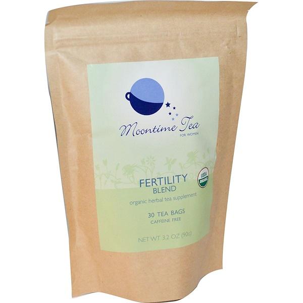 Moontime Tea, Fertility Blend For Women, Caffeine Free, 30 Tea Bags, 3.2 oz (90 g) (Discontinued Item)