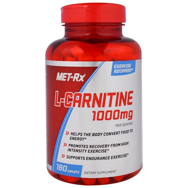 MET-Rx, L-Carnitine, 1,000 mg, 180 Caplets (Discontinued Item)