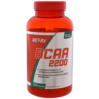 MET-Rx, BCAA 2200, 180 Softgels