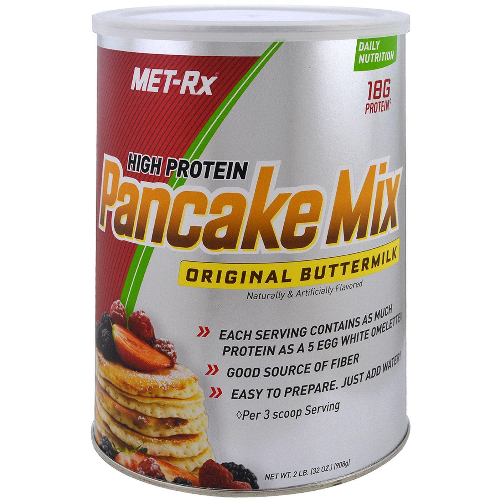 MET-Rx, Смесь для блинов с высоким содержанием протеина, оригинальная пахта, 32 унций (908 г)