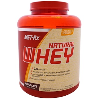 MET-Rx, Natural Whey, Chocolate, 5 lbs (80 oz)