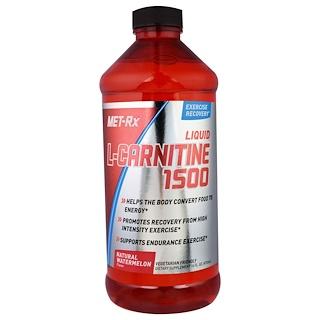MET-Rx, 液態L-肉鹼1500,天然西瓜香味,16液盎司(473毫升)