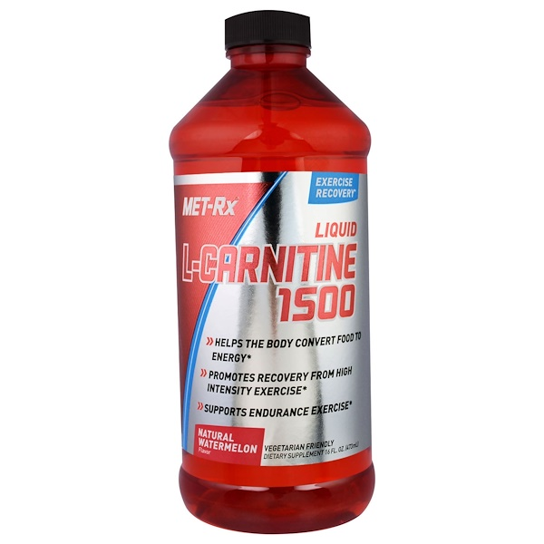 MET-Rx, Liquid L-Carnitine 1500, Natural Watermelon Flavor, 16 fl oz (473 ml) (Discontinued Item)
