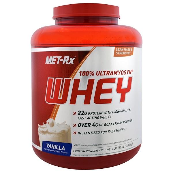MET-Rx, 100% Ultramyosyn Whey, Vanilla, 80 oz (2.26 kg) (Discontinued Item)