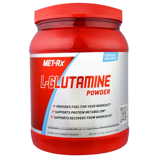MET-Rx, L-Glutamine Powder, Unflavored , 35.28 oz (1000 g) (Discontinued Item)