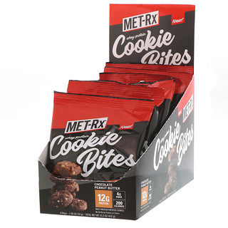 MET-Rx, Whey Protein Cookie Bites, Chocolate Peanut Butter, 8 Bags, 1.90 oz (54 g) Each