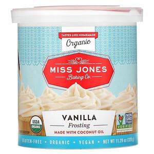 Miss Jones Baking Co, Organic Frosting, Vanilla, 11.29 oz (320 g)