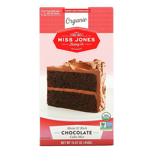Miss Jones Baking Co, Organic Cake Mix, Chocolate, 15.87 oz (450 g)'