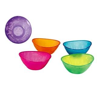Munchkin, Cuencos Multicolores, 6+ Meses, 5 Cuencos, 12 oz C/U