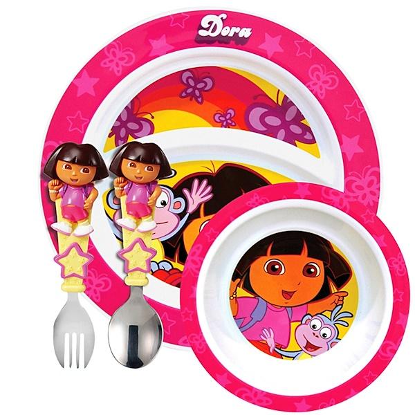 Munchkin, Dora the Explorer Toddler Dining Set (Discontinued Item)