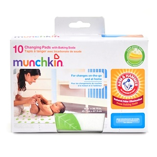 Munchkin, Changing Pads with Baking Soda, 10 Pack