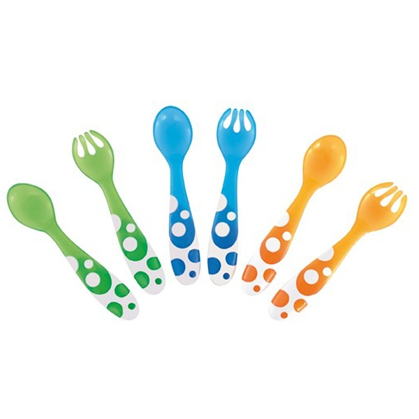 Munchkin, Multi Forks & Spoons, 12+ Months, 6 Pieces (Discontinued Item)