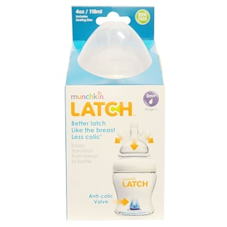 Munchkin, Latch, 0 Months +, Stage 1, 1 Bottle, 4 oz (118 ml)