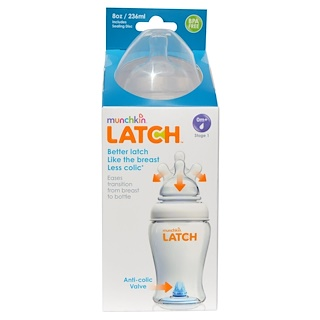 Munchkin, Latch, Bottle, 8 oz (236 ml)