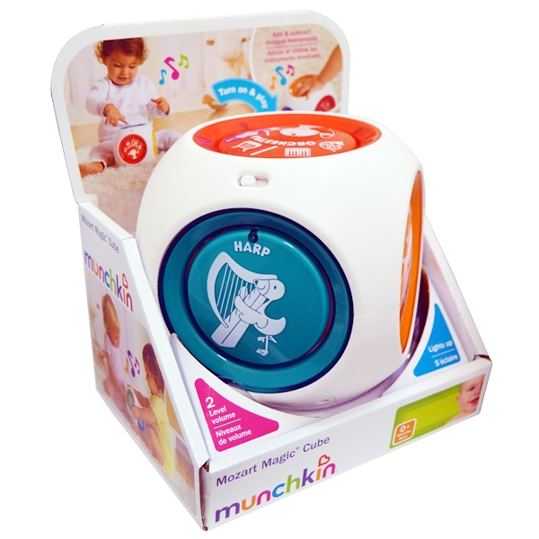 Munchkin, Mozart Magic Cube, 0+ Months, 1 Cube Toy