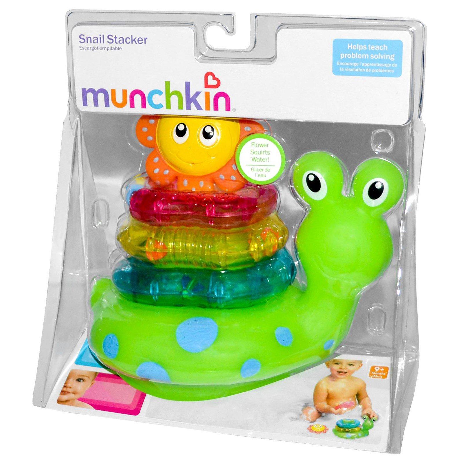 Munchkin, Snail Stacker Bath Toy, 9 +Months - iHerb.com