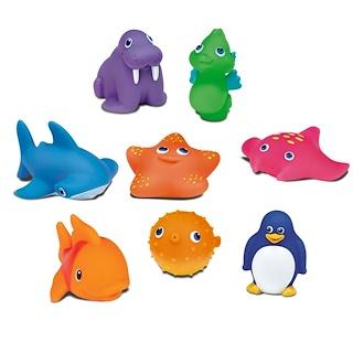 Munchkin, Брызгалки для ванны Ocean Bath Squirts, для детей от 9 месяцев, 8 игрушек