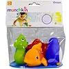 Munchkin, Ocean Bath Squirts, 9+ Months, 4 Toys (Discontinued Item)