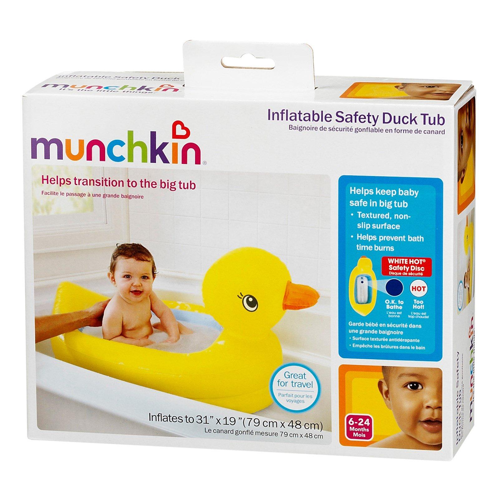 Munchkin, Inflatable Safety Duck Tub, 1 Tub - iHerb.com