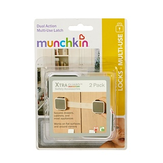 Munchkin, Safety, XtraGuard, Dual Locking Multi-Use Latch, 2 Pack