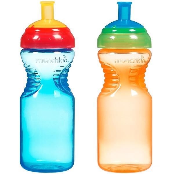 Munchkin, Cпортивные бутылки с удобным держателем, 6+ месяцев, 2 бутылки емк. по 10 унций (296 мл)  (Discontinued Item)