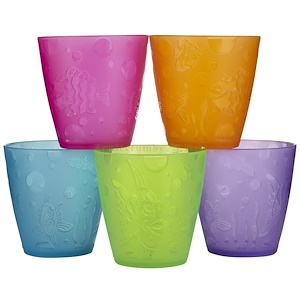 Munchkin, Чашки для детей от 18 месяцев, 5 чашек, каждая по 8 унций (236 мл)