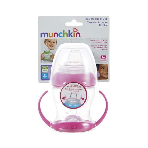 Munchkin, Flexi Transition Cup, 1 Cup, 4 oz (118 ml) (Discontinued Item)