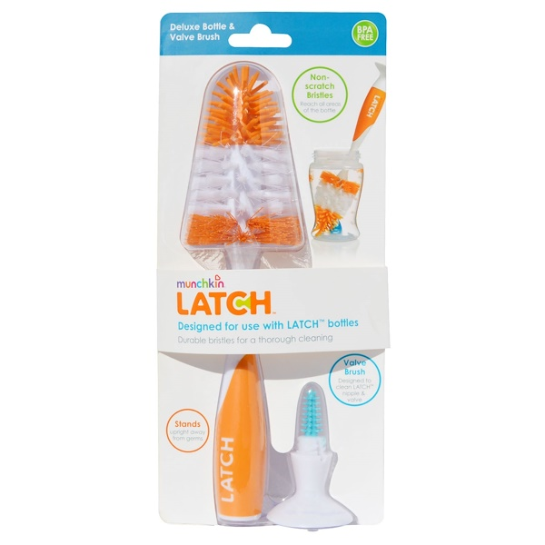 Munchkin, Latch, Deluxe Bottle & Valve Brush, 1 Brush