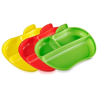 Munchkin, Lil' Apple Plates - 3pk