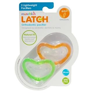 Munchkin, Latch, Lightweight Pacifiers, 6 + Months, 2 Pacifiers