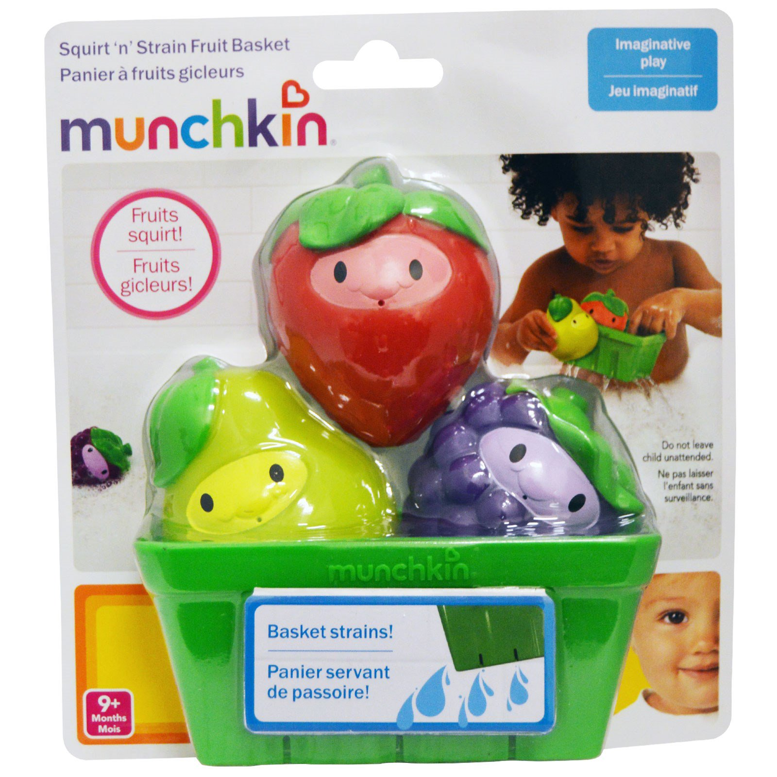 Munchkin Squirt n Strain Fruit Basket 9 Months 1 Toy Basket