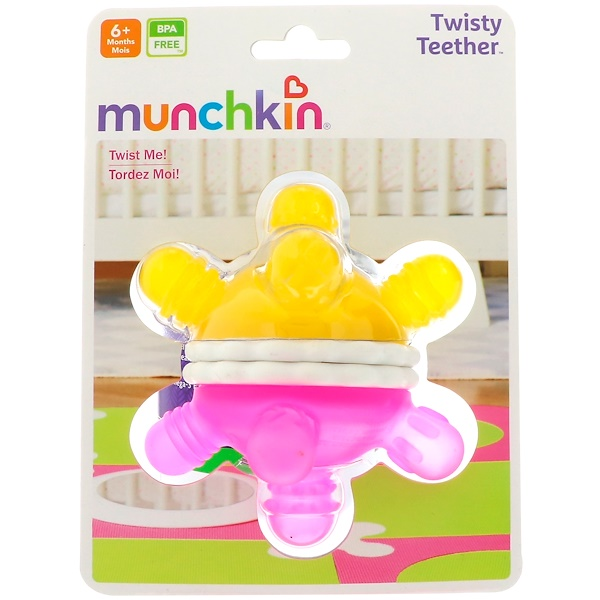 Munchkin, Twisty Teether Ball, 6+ Months, 1 Teether Ball