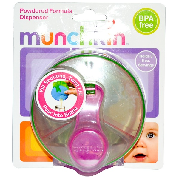 Munchkin, Powdered Formula Dispenser, Holds Three 8 oz Servings (Discontinued Item)