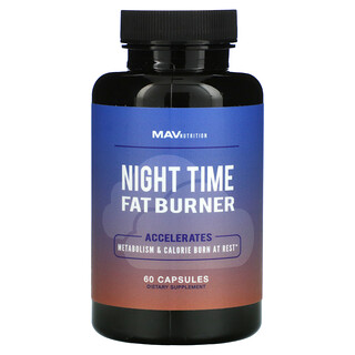 MAV Nutrition, Night Time Fat Burner, 60 Capsules