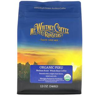 Mt. Whitney Coffee Roasters, Organic Peru, Medium Roast Whole Bean Coffee, 12 oz (340 g)