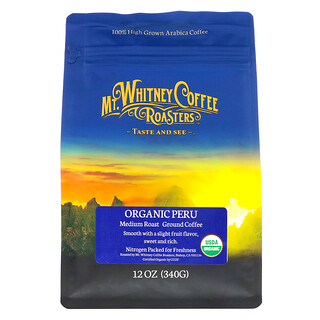Mt. Whitney Coffee Roasters, 有機研磨咖啡,秘魯樹蔭下種植,中度烘焙,12盎司(340 克)