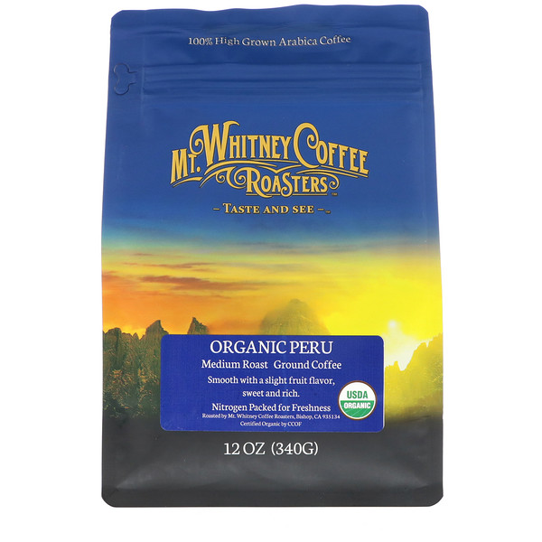 Organic Peru, Medium Roast, Ground Coffee, 12 oz (340 g)