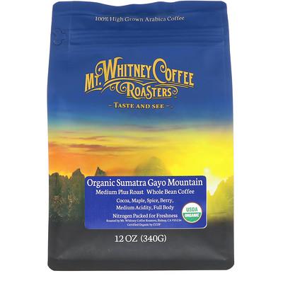Organic Sumatra Gayo Mountain, Medium Plus Roast Whole Bean Coffee, 12 oz (340 g) keepcup кружка keepcup roast