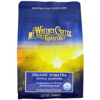 Mt. Whitney Coffee Roasters, Organic Sumatra, Ground Coffee, Dark Roast, 12 oz (340 g)