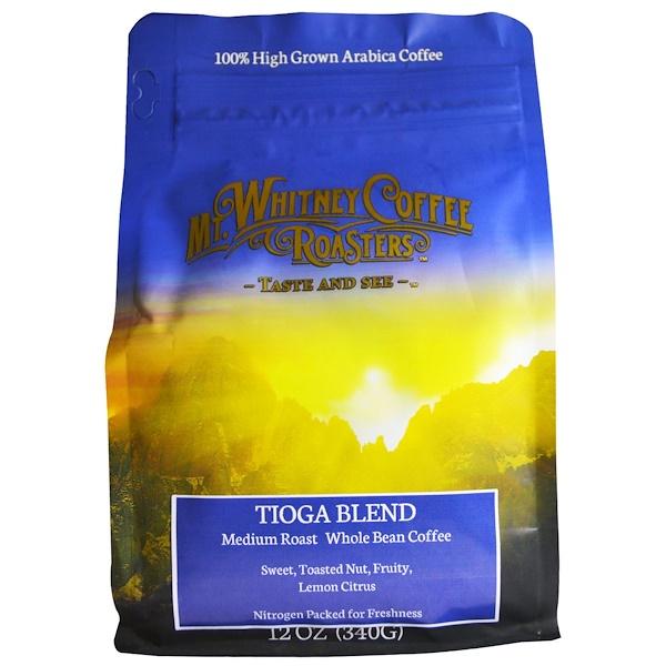 Mt. Whitney Coffee Roasters, Whole Bean Coffee, Tioga Blend, Medium Roast, 12 oz (340 g) (Discontinued Item)