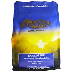 Мт Уитни Коффее Роастерс, Whole Bean Coffee, Tioga Blend, Medium Roast, 12 oz (340 g) отзывы