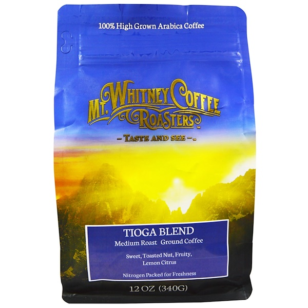 Mt. Whitney Coffee Roasters, Tioga Blend, Medium Roast Ground Coffee, 12 oz (340 g) (Discontinued Item)