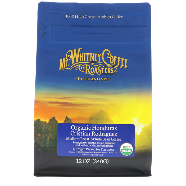 Organic Honduras Cristian Rodriguez, Medium Roast, Whole Bean Coffee, 12 oz (340 g)