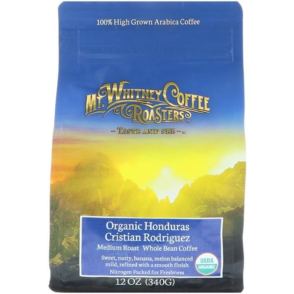 Mt、 Whitney Coffee Roasters, 全豆咖啡,高地種植,洪都拉斯克里斯蒂安羅德里格斯,中度烘焙,12盎司(340克)