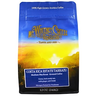Mt. Whitney Coffee Roasters, Costa Rica Estate Tarrazu, Medium Plus Roast, Ground Coffee, 12 oz (340 g)