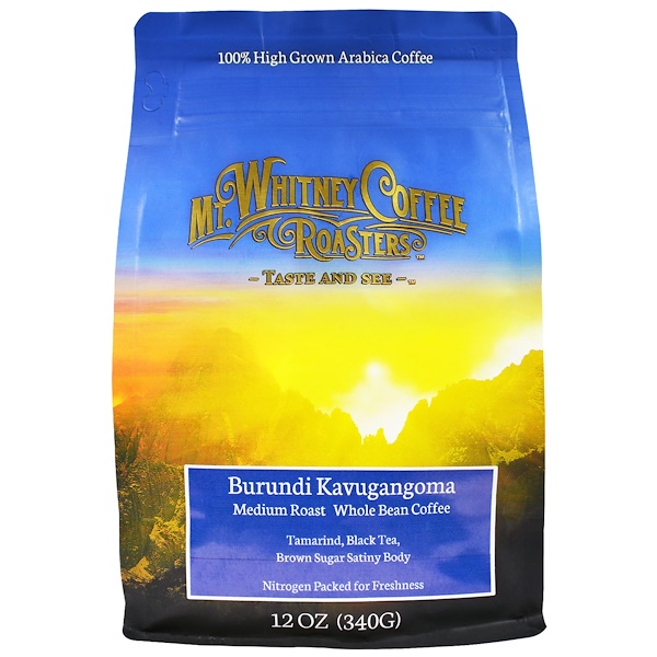 Mt. Whitney Coffee Roasters, Burundi Kavugangoma, Medium Roast, Whole Bean Coffee, 12 oz (340 g) (Discontinued Item)